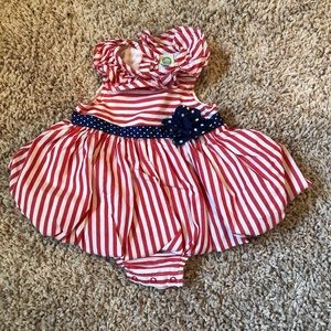 Little Me baby girls holiday dress/one piece.